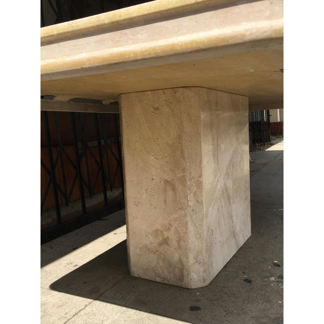 1960s Italian Travertine Dining Table For Sale - Image 9 of 13