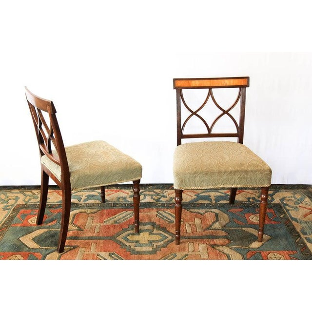 Early 19th Century Inlaid Sheraton Chairs- a Pair For Sale In Raleigh - Image 6 of 7