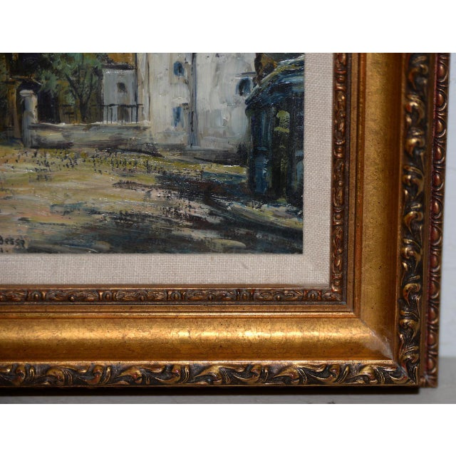 "French Raymond Besse ""Sacré-Cœur, Paris"" Original Oil Painting C.1950s For Sale - Image 3 of 7"