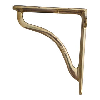 Urban Archaeology Polished Brass Shelf Bracket