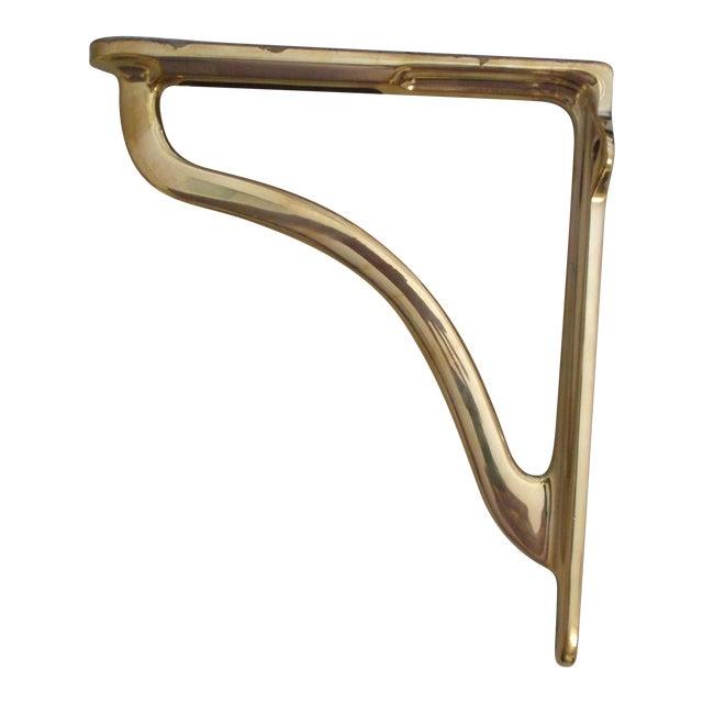 Urban Archaeology Polished Brass Shelf Bracket For Sale