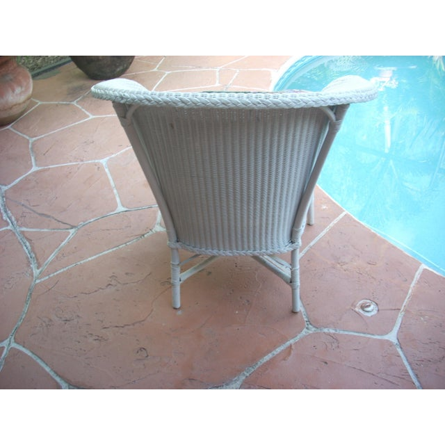 Contemporary Cottage Wicker Chair & Rocker - a Pair - Image 6 of 8
