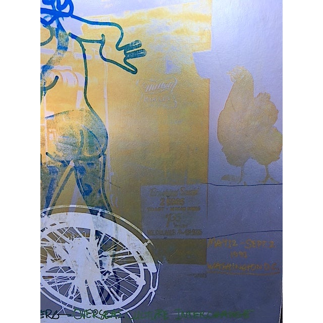 Bicycle, Mounted Rauschenberg Exhibition Poster - Image 3 of 7