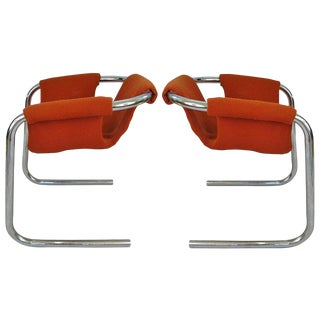 1950s Chrome Base Zermatt Chairs - a Pair For Sale
