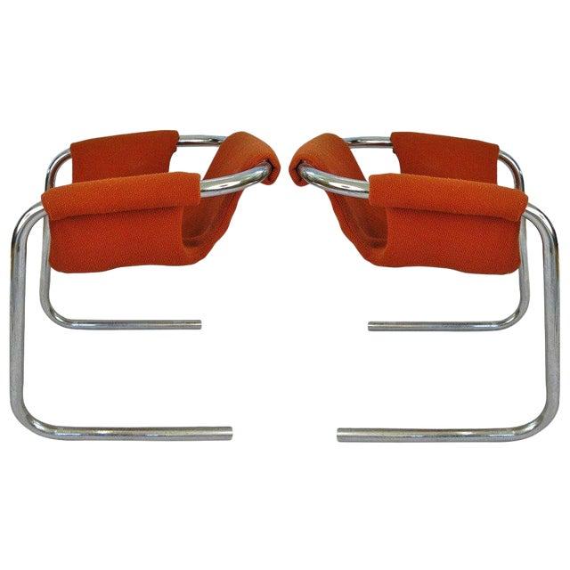 1950s Chrome Base Zermatt Chairs - a Pair For Sale