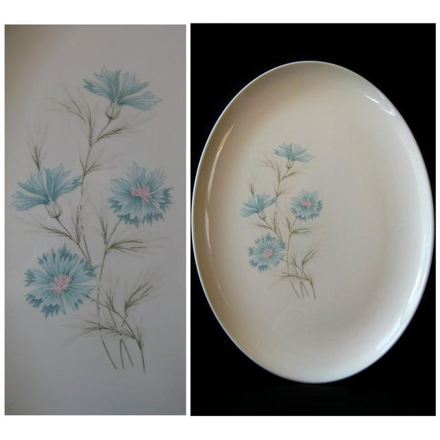 Vintage Ever Yours Boutonniere Oval Large Serving Platter by Taylor, Smith and Taylor For Sale - Image 4 of 6