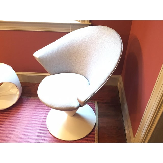 1960s Adrian Pearsall Grey Swivel Cone Chair - Image 3 of 7