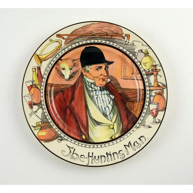 "English 1950s English Traditional Royal Doulton Series Ware Plate, ""The Hunting Man"" For Sale - Image 3 of 3"