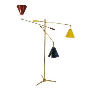 Early Arredoluce Brass Triennale Lamp