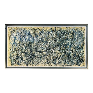 Monumental Jackson Pollock Poster, Framed For Sale
