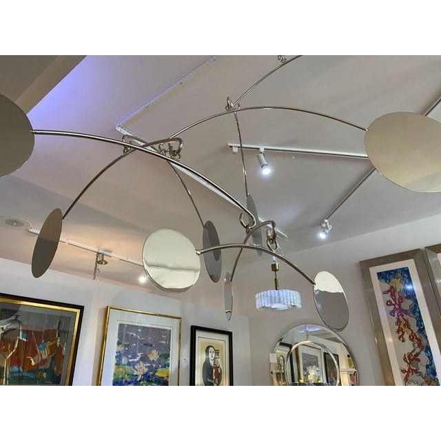 Vintage Abstract Mobile Nickel Plated For Sale - Image 10 of 11