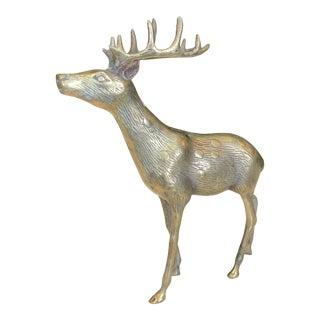 Brass Deer Figure For Sale