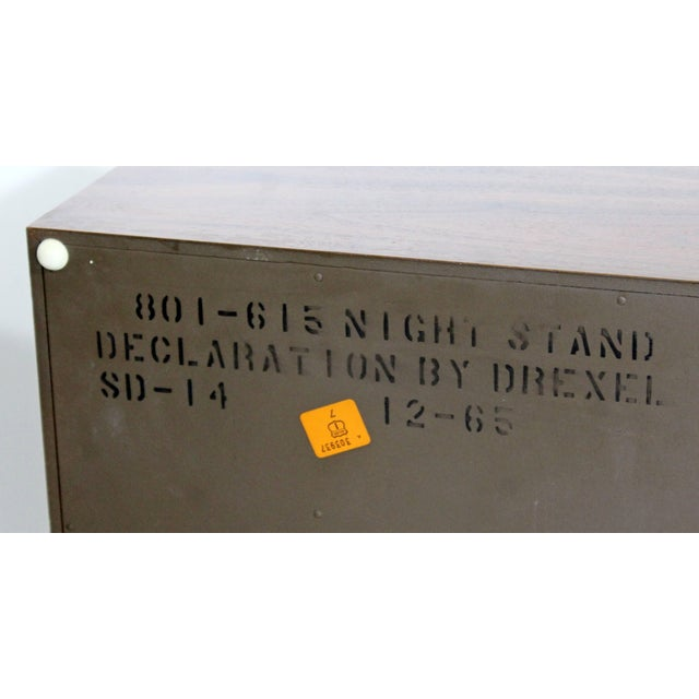 Mid-Century Modern Kipp Stewart Drexel Declaration Walnut Pair of Nightstands For Sale In Detroit - Image 6 of 10