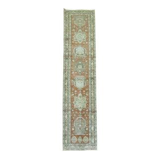 Antique Persian Heriz Runner, 2'9'' x 11'5' For Sale
