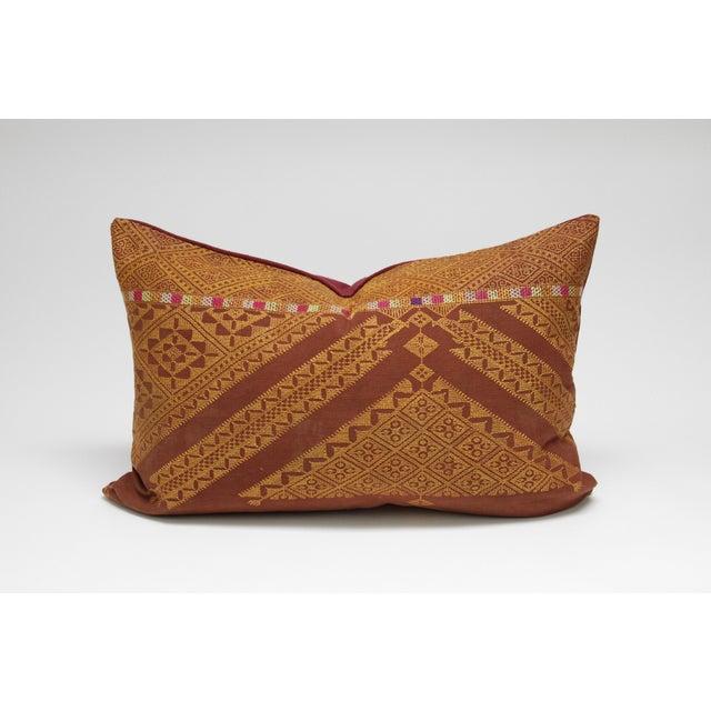 Stately Bagh Phulkari Lumbar Pillow - Image 3 of 3