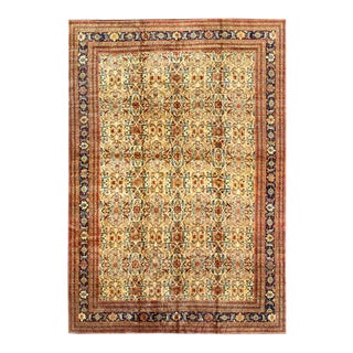 Pasargad Beige Fine Hand Knotted Farahan Rug 12' X 18' For Sale