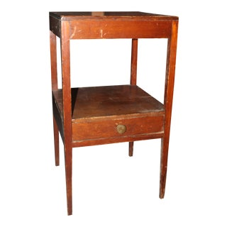 20th Century Country 2-Tier Pine Nightstand For Sale