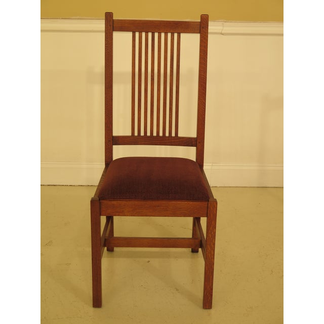 Arts & Crafts Stickley Mission Oak Dining Room Chairs - Set of 4 For Sale - Image 3 of 13
