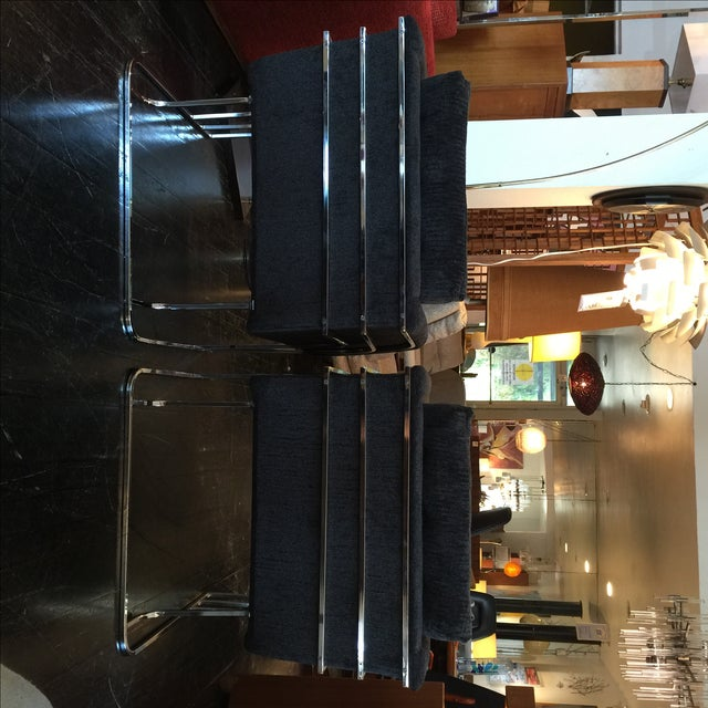 Milo Baughman Chrome Reupholstered Club Chairs - 2 For Sale In San Antonio - Image 6 of 10