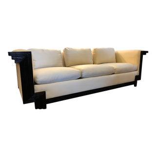 Interior Crafts Black Lacquer Sofa For Sale