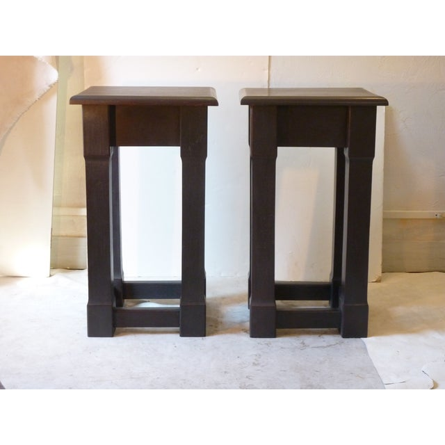 Early 20th Century American Square Pedestals - a Pair For Sale In Boston - Image 6 of 6