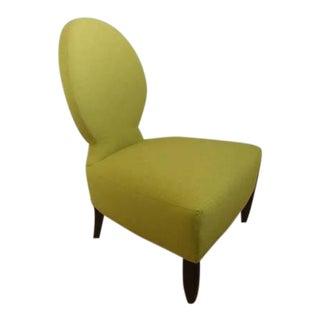 Henredon Furniture Barbara Barry Opera Slipper Chair in Chloris Green For Sale