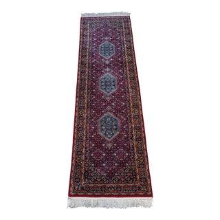 """Indian Handmade Wool Runner- 2'6"""" X 10'2"""" Ft For Sale"""
