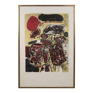 """Le Soleil Rouge"" Lithograph Printed in Colors, 1963 For Sale"
