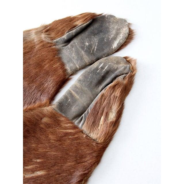 Antique Fur Mitten Gloves - A Pair - Image 5 of 5