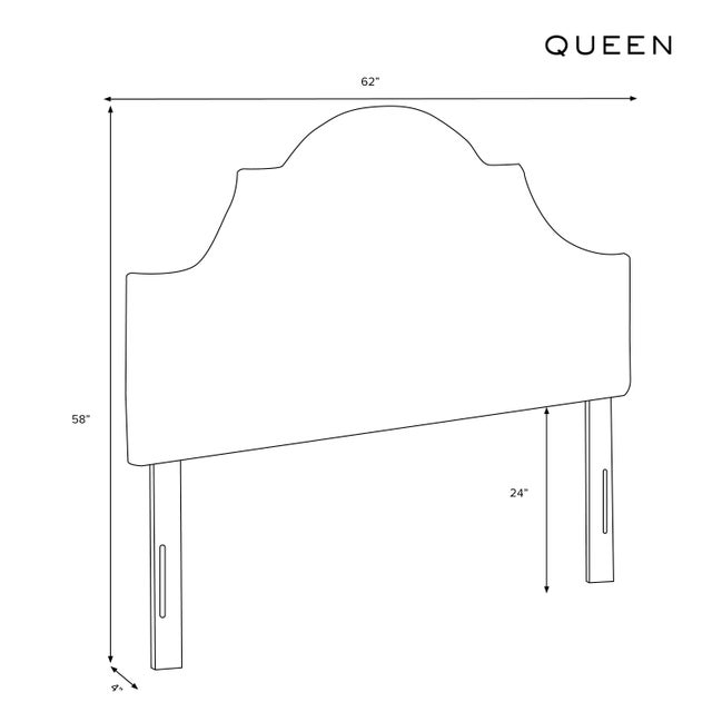Queen Headboard, Belize Chinoiserie Cream For Sale In Chicago - Image 6 of 7