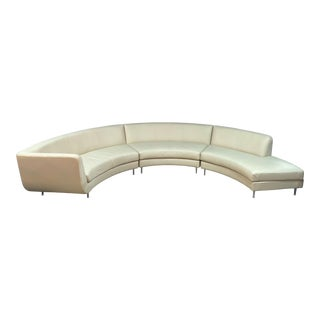 American Leather Menlo Park Leather Sectional For Sale