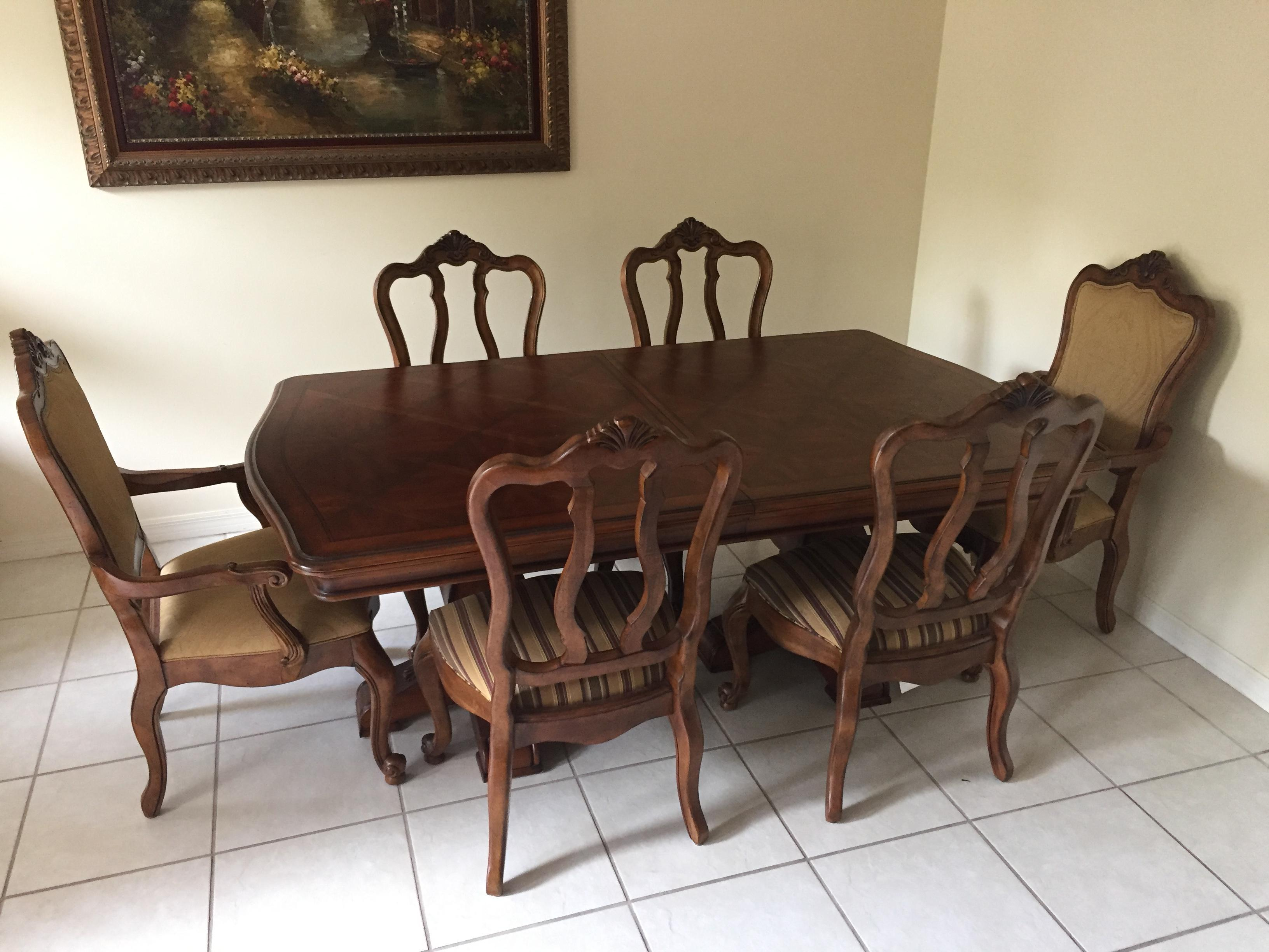 Ethan Allen Tuscany Dining Set   Set Of 7   Image 3 Of 11