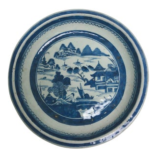 Antique 1790-1800 Chinese Canton Pie Plate For Sale