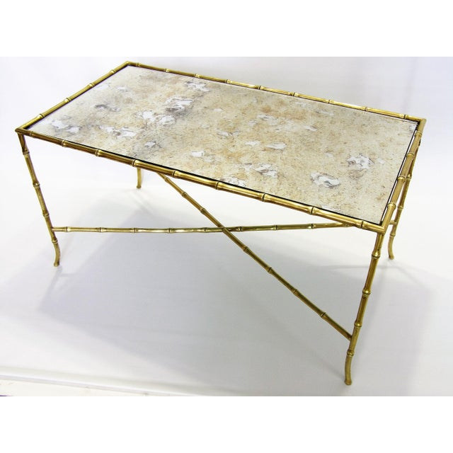 Maison Bagues French Brass Bamboo Coffee Table - Image 4 of 11