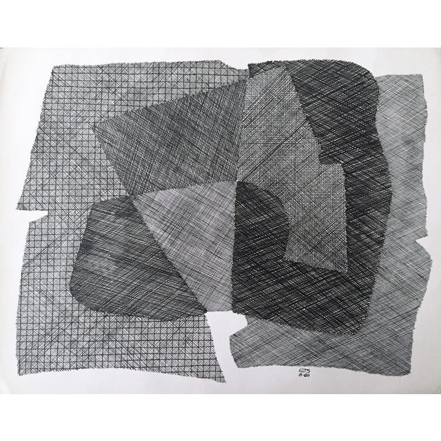 Pen & Ink Abstract Drawing by Roger Stokes - Image 1 of 5