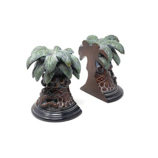 Palm Trees With Monkeys Bookends Preview