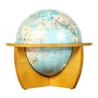 1960s Vintage Cartocraft by Denoyer-Geppert Co Table Globe For Sale
