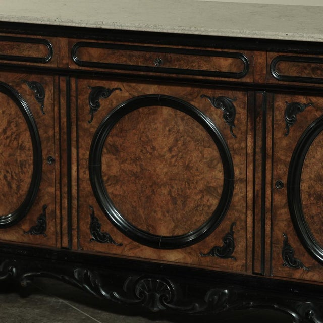 19th Century Biedermeier Marble Top Buffet For Sale In Dallas - Image 6 of 13