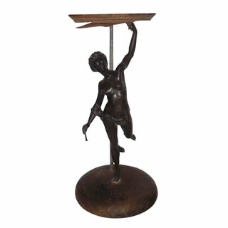 Art Deco Bronze Female Statuette For Sale