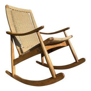Mid Century Rocking Chair From Yugoslavia For Sale