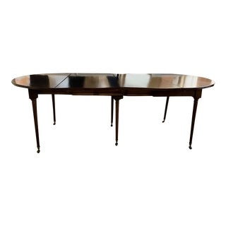 French Regency Oval Dining Table With 2 Solid Board Leaves. For Sale