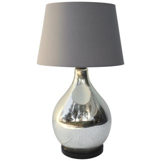 Large Mercury Glass Table Lamp For Sale