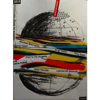 2014 Original Semaine Du Design International Poster - Alfred Halasa For Sale