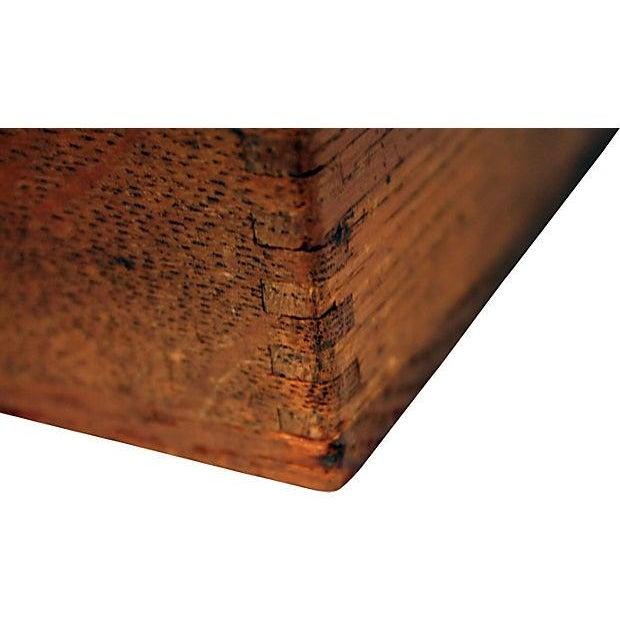 Antique Oak Storage Box - Image 5 of 7