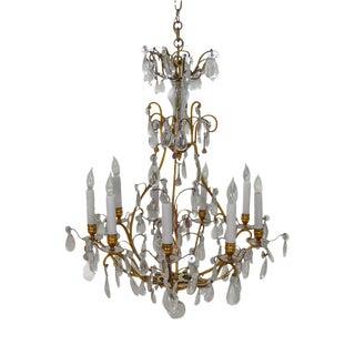 Bronze & Crystal Vintage Chandelier