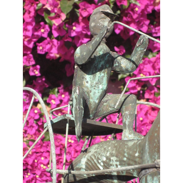 Copper Vintage Horse and Buggy Coper Weathervane For Sale - Image 8 of 13