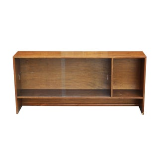 Walnut Bookshelf with Sliding Glass Doors Preview