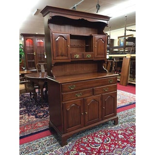 1960's Vintage Henkel Harris Cherry Farm Country Hutch Cabinet Preview