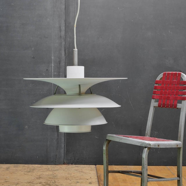 Denmark, 1980. Extra Large with a Diameter of 26 in. Louis Poulsen manufactured PH 6/12 'Charlottenborg' pendant lamp...