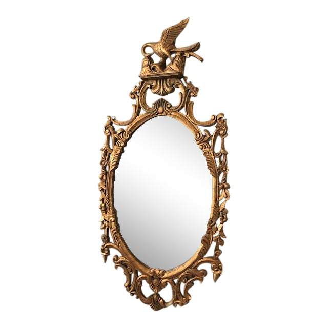 Rococo Ornate Carved Gilt-Wood Mirror For Sale